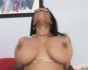 Dark-Hued nymph takes her excercise inside the mansion and her body pt 2/3