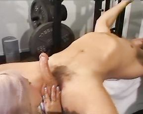 He excercises with weights she excersices her tongue