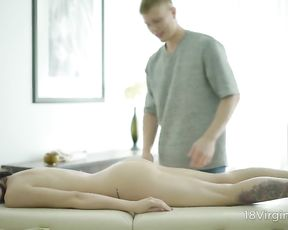 Massive surprise for a naked and relaxed client