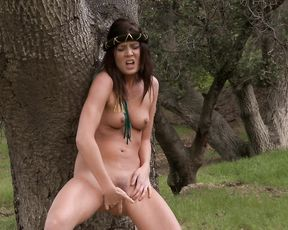 Cosplay Girl Masturbating Outdoors - Chelsea - Green Grass
