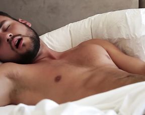 Explicit Male -Masturbation Guy on the Bed