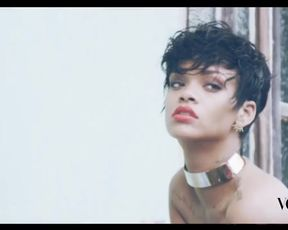 Hot celebs video Rihanna sexy – Vogue Brasil- Behind The Scenes (2014)