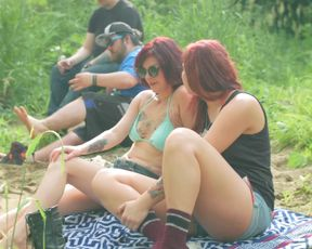Celebs Nadia White, Brittany Blanton, Ayse Howard nude - Don't Fuck in the Woods (2016)