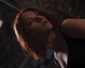 Sexy Scarlett Johansson Sexy - The Avengers (2012) TV show scenes