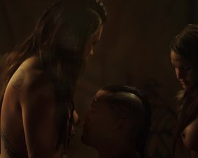 Lili_Simmons__Drea_Garcia__Trinity_Wright_-_Banshee_s03e02__2015_ actress hot scene