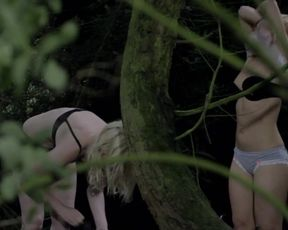 Alyssa Noble and Chloe Farnworth - Crying_Wolf (2015) topless atresses from voyeur scene