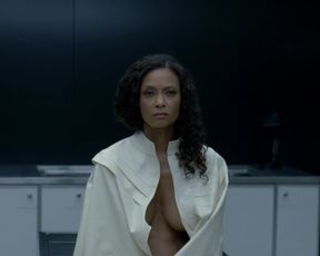 Thandie Newton - Westworld s01e07 (2016) Naked actress in a sexy video