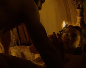 Florence Pugh - Outlaw King (2018) Naked actress in a sexy video