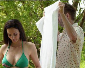 Zsuzsanna Ripli - A mi kis falunk s03e13 (2019) Naked film scene