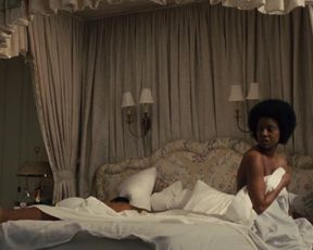 Zoe Saldana - Nina (2016) Naked actress in a TV movie scene