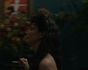 Amara Zaragoza, Bella Heathcote nude, Public Nude, Orgy Scene in 'Strange Angel'