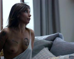 Agnieszka Dygant, Aleksandra Poplawska topless in TV show 'Kobiety Mafii'