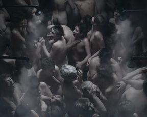 Michalina Olszanska, & other actresses - Sobibor (2018) Naked actress in a movie scene