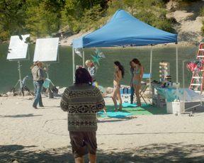 Chasty Ballesteros, Caley Dimmock, Karyn Halpin, Jasmine Mooney - The Movie Out Here (2012) celeb hot scene