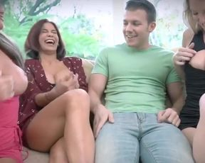 Badmilfs - Horny MILF Shares Huge Cock with Friends