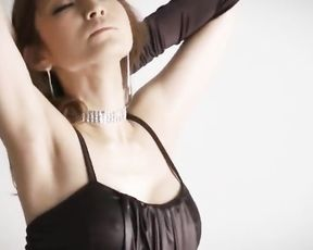 Impressive solo posing along lingerie beauty Yu