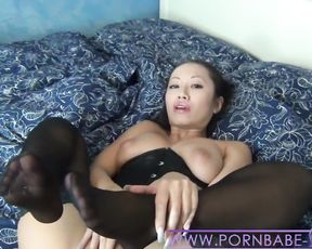 Red-Super-Hot Chinese PornbabeTyra taunt and denial