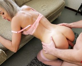 Assfuck testicle tonic and bum eating with red-super hot ash-blonde.