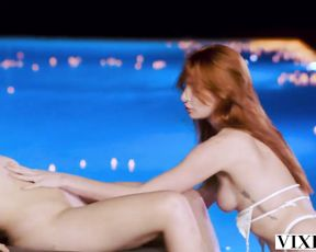 vixen killer redheads entice bartender while on vacation