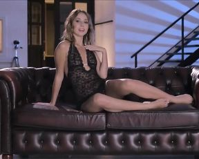 Super-Fucking-Hot nymph Linda bares all her all-natural body on a couch