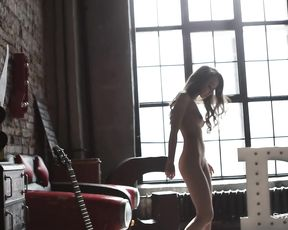 Spectacular russian very first-timer honeys teasing in HD softcore erotica flick