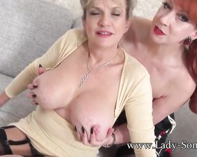 Lady Sonia and Red XXX love eyeing you jerk