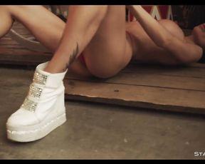 Gorgeous amateur models dancing in erotic video compilation
