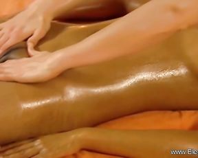 Crimson haired masseur is providing a utter bod rubdown to a nude doll, late at night