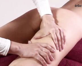 Nasty g/g masseuse is giving a cunt massage to Nikita, knowing how much she luvs it