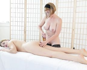 Miss Trish and Starlette always have a supreme time when they meet up in a massage parlor