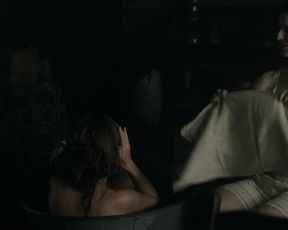 Maya Hawke - The Superb Lord Bird s01e05 (2020) celebrity a bare-chested sequence from the video
