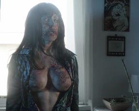 Ximena del Solar, Rayloren Mata, Chiara Pavoni - Ill Final Contagium (2020) silicone globes bare-breasted vignette from the video