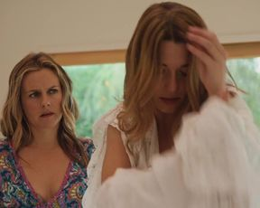 Alicia Silverstone, Mathilde Ollivier - Sis of the Groom (2020) celebs a stripped to the waist episode from the flick
