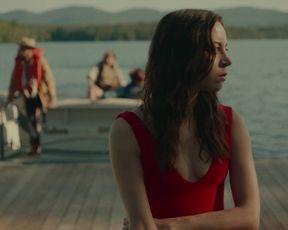 Aubrey Plaza, Lindsay Burdge - Dark-Hued Hairy Man (2020) actress uber-sexy vid