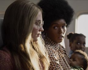 Alicia Vikander, Janelle Monae, Julianne Moore - The Glorias (2020) actress a braless vignette from the flick