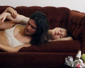 Carla Lopita Rowlex Ortiz, Sara Sliva - Mess (2020) actress milk cans sequence