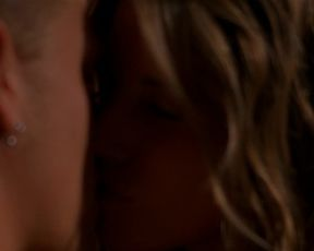 Andrea Bogart, Jennifer Tisdale â Dark Rail (2006) celeb bare melons sequence