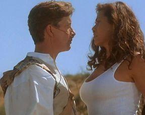 Deborah Shelton, Bridget Marks - Circuitry Dude II (1994) actress booby scorching sequence