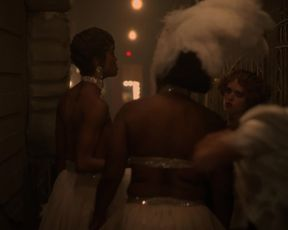 Aunjanue Ellis, Sharron Lynn, Carra Patterson, and other - Lovecraft Country s01e07 (2020) actress a bra-less episode from the video