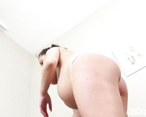 Oiled Up Missy Flashes Off Her Bare, Pregnant Assets!