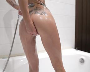 Teen Have Joy with Oil and Foam - Sensual Solo