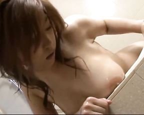 Jaw-Ripping Off Asian Naho oils up her pretty gash