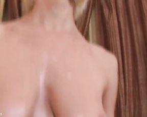 Jane Lubricates and Jiggles her Boobs