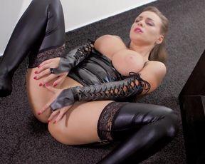 Solo Masturbation - Josephine Jackson -  Sexy Latex & Big Tits