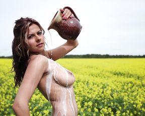 Nude Outdoors - Milking Models