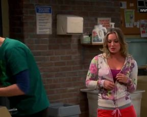 Kaley Cuoco hot - Displays her Brassiere, Phat Boobies - the Thick Pulverize Theory S07e11 (2013) Bikini Celebs
