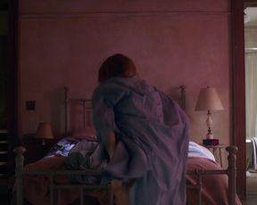 Amy Adams hot - The Woman in the Window (2021) Underwear Actress Scene
