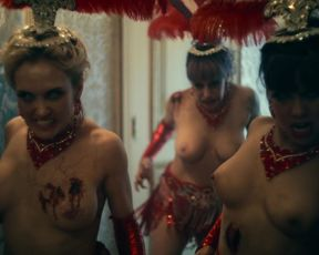 Monica Lopez, Sabine Varnes, Kelly Phelan nude - Army of the Dead (2021) topless short episode
