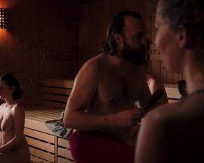 Naked (nackte) Movie Scene -  Ein Saunagang (2021) All Nude scene