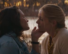 Kristin Davis, Greer Grammer - Deadly Illusions (2021) actress nude boobs scene